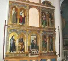 Polittico di Filippo Mazzola (1460-1505) nella Basilica di Santa Maria delle Grazie a Cortemaggiore. 1499