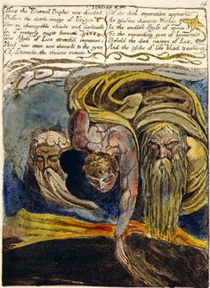 The First Book of Urizen, William Blake, The Morgan Library & Museum William Blake Poems, Songs Of Innocence, Esoteric Art, Writing Art, Morgan Library, English Poets, Great Artists, Printmaking, Book Art