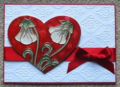 Valentine's Card that I made for my other half. Features stamped images by Sheena Douglass and Pebeo Fantasy Prisme and Moon paints Valentine Crafts, Valentines, Pebeo Paint, Wax Art, Moon Painting, Encaustic Art, Craft Work, Diy Cards, Craft Gifts