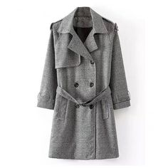 Windy Streets Coat (44 CAD) ❤ liked on Polyvore featuring outerwear and coats
