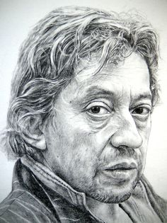 Pencil Portraits - Serge Gainsbourg - Discover The Secrets Of Drawing Realistic Pencil Portraits.Let Me Show You How You Too Can Draw Realistic Pencil Portraits With My Truly Step-by-Step Guide. Portrait Au Crayon, Pencil Portrait, Portrait Art, Drawing Heads, Painting & Drawing, Realistic Pencil Drawings, Realistic Rose, Serge Gainsbourg, Portrait Illustration