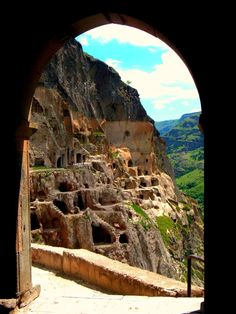 Vardzia Cave – Located at the European country of Georgia. - Georgian people…