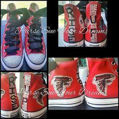 Custom Atlanta Falcons Inspired Converse by PurseSueYourDream