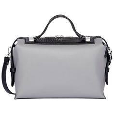 Fiorelli Fletcher Boxy Bowler Bag at John Lewis   Partners. Grey leather bag c7592a5b33095