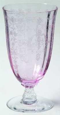 My Fostoria Navarre Pink Ice Tea Glass../ I have those in blue