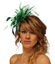 Emerald+Green+and+Teal+Feather+Fascinator+Hat++by+MaighreadStuart,+£29.00