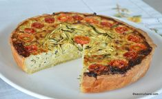 Quiches, Ovo Vegetarian, Romanian Food, Dessert Recipes, Desserts, Vegetable Pizza, Bacon, Good Food, Food And Drink