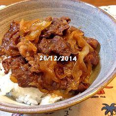 いいお肉で少〜し贅沢♡ - 22件のもぐもぐ - 牛丼 by tomo1106