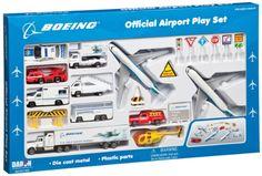 Daron Boeing Aircraft Playset, 24-Piece