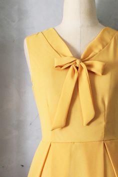 Madeline Dress in Mustard   Fleet Collection