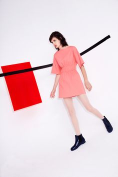 Salmon dress. Sonia by Sonia Rykiel | Pre-Fall 2014 Collection | Style.com