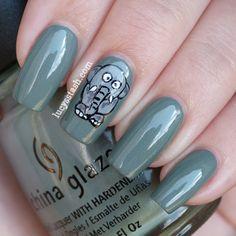 Elephant nail art