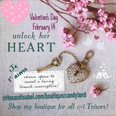 Valentine's Day, key to my heart, locket, i love you, JE t' aime