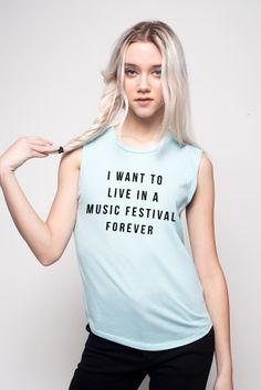 Music Festival Forever Muscle Tee