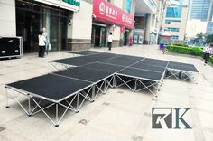 【beyondstage.com】 portable stage for your outside events. any question call us. www.beyondstage.com #portablestage #mobilestage #stageonsale #stagemanufacture