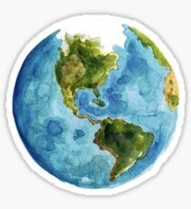 watercolor globe Sticker