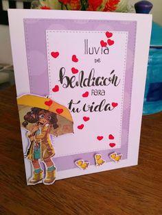 Mi Scrap: lluvia de bendiciones card Card Making, Scrapbook, Frame, Blog, Decor, Mini Heart, Nice Weekend, Rain, Paper Envelopes