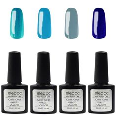 Eleacc 10ml Soak Off UV LED Gel Nail Polish Nail Art Gelpolsih 4 Colors Manicure Set (S4) * Want to know more, click on the image.