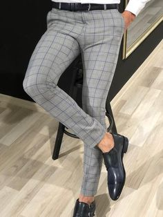 Ferra Slim Fit Plaid Pants in Blue is part of Plaid pants - Available Size material viscose , polyester , elestanMachine washable Yes Fitting slimfi Mens Plaid Dress Pants, Slim Fit Dress Pants, Mens Trousers Casual, Pants For Men, Men Trousers, Trouser Pants, Mens Fashion Wear, Suit Fashion, Karohosen Outfit