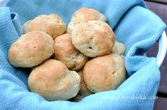 Gluten & Dairy Free Dinner Rolls in 3 different flavors: plain, garlic & rosemary, or onion. From Megan @ Allergy Free Alaska