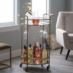 Belham Living Olivia Round Bar Cart - RH151101R-G