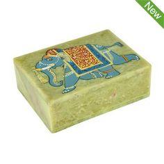 Gorara Stone Elephant Keepsake Box $16.95