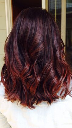 Autumn Swirls Cherry Cola Lowlights With Blonde