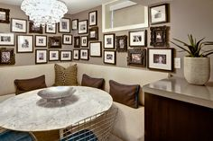 modern basement by Dwelling Designs - card table nook