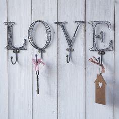 Love Hooks-Set of 4