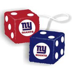 New York Giants NFL 3 Car Fuzzy Dice 1