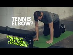 A lot of the advice you'll find online for tennis elbow pain is a swing and a miss. Don't waste time overstretching, which could cause more damage. Instead, try these 3 lateral epicondylitis exercises. Tennis Elbow Test, Tennis Arm, Tennis Tips, Scapula Exercises, Tennis Elbow Exercises, How To Play Tennis, Tennis Pictures, Physical Therapy Exercises, Tennis Elbow