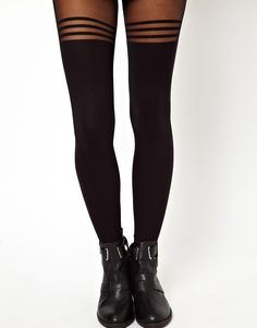 ASOS 3 Hoop Over The Knee Tights. I have a navy pair like this from primark.