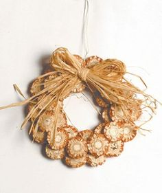Fall wreath uses dried corn cobs