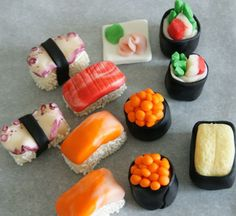 fondant sushi for gourmet cake by Mili's Sweets so cool!!!!!!!