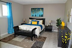 A lovely staged bedroom created by Maximum Impact Plus Bedroom, Furniture, Home Decor, Decoration Home, Room Decor, Bedrooms, Home Furnishings, Home Interior Design, Dorm Room