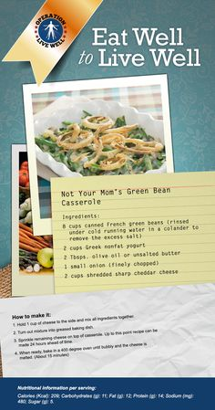 Recipe: Not Your Mom's Green Bean Casserole. #OLW