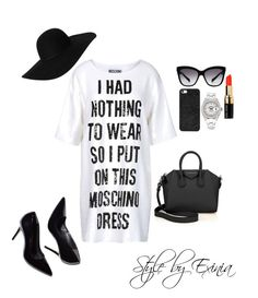 """""""Untitled #125"""" by classicblur on Polyvore featuring Moschino, Givenchy, Monki, Dolce&Gabbana, BaubleBar, Rolex and Bobbi Brown Cosmetics"""