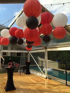 Lanterns clustered together create greater impact! Myperfectparty
