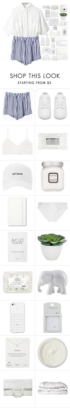 """#389"" by oh-my-rainbow ❤ liked on Polyvore featuring Balenciaga, Miu Miu, Stila, Laura Mercier, Moleskine, Monki, Torre & Tagus, Herbivore, The Elephant Family and Topshop"