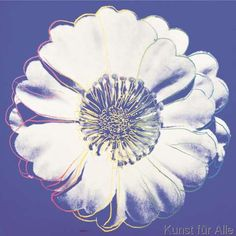 Andy Warhol - Flower for Tacoma Dome, c. 1982 (blue & white)