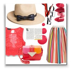 """""""Get the Look: Straw Hat"""" by schipillitilaura ❤ liked on Polyvore featuring The Season Hats, Alice + Olivia, Bebe, Sara Battaglia and Rossetto"""