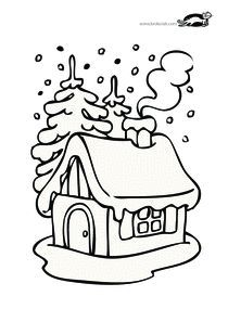 Best house drawing design coloring pages Ideas Christmas Crafts For Kids To Make, Xmas Crafts, Fall Crafts, Kids Christmas, Christmas Colors, Christmas Themes, Free Coloring, Coloring Books, Christmas Drawing