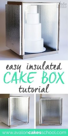 How to Make an Insulated Cake Delivery Box Tutorial This easy and inexpensive DIY is the perfect solution to keep my cakes COLD EVERY TIME during delivery! This has been a lifesaver for all my cake delivery box needs, I don't know what I'd do without it! Creative Cake Decorating, Cake Decorating Techniques, Cake Decorating Tutorials, Creative Cakes, Decorating Cakes, Decorating Supplies, Home Bakery Business, Baking Business, Cake Business