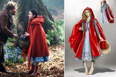 """Boceto de Colleen Atwood para el personaje de Caperucita Roja (Lilla Crawford ) en """"Into the Woods"""" (2014)."""