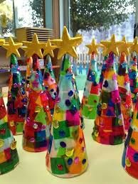 Image result for tissue paper christmas tree craft