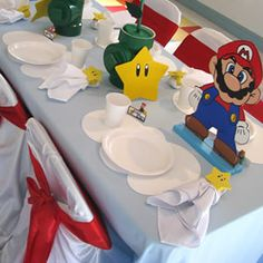 A Super Mario Brothers birthday party saw this and thought of my baby cousin Ty-man! He loves super Mario brothers