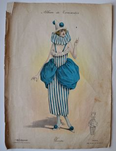 Fabulous 1920's French Pierrette Costume Design