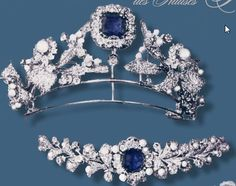 The Sapphire-Pearl-Diamond Parure of the Prussian Queens #Royal #jewels