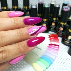 293 отметок «Нравится», 5 комментариев — @puro.nails (@puro.nails) в Instagram: «Konkurs, konkurs --> link w bio :) Na fotce mani zmalowane T11, 556, painty 01,04,06 @makear.pl…» Cute Almond Nails, Almond Nail Art, Bee Nails, Nail Photos, Coffin Shape Nails, Bright Nails, Perfect Nails, Stiletto Nails, Spring Nails