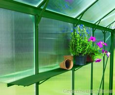 Vitavia Green Aluminium Shelf  http://www.greenhousestores.co.uk/Vitavia-Green-Aluminium-Shelf.htm